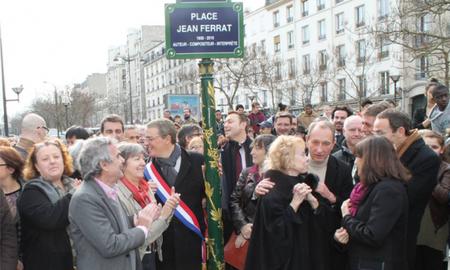 2015) Inauguration de la place Jean FERRAT à Ménilmontant le 13 mars 2015
