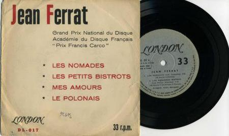 1962) Jean FERRAT - Les nomades (version vendu en URUGUAY)