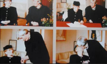 1992) Photo du mariage de Jean et Colette FERRAT le 28 Janvier 1992 à Ivry sur Seine (94200)