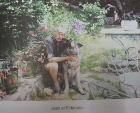 1995) Jean FERRAT et son chien '' Eldorado ''
