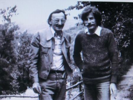 1975) Jean FERRAT avec son ami Guy Thomas