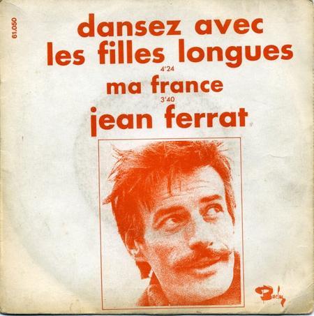 1969) Jean FERRAT - Dansez avec les filles longues (version 45T 2 titres)