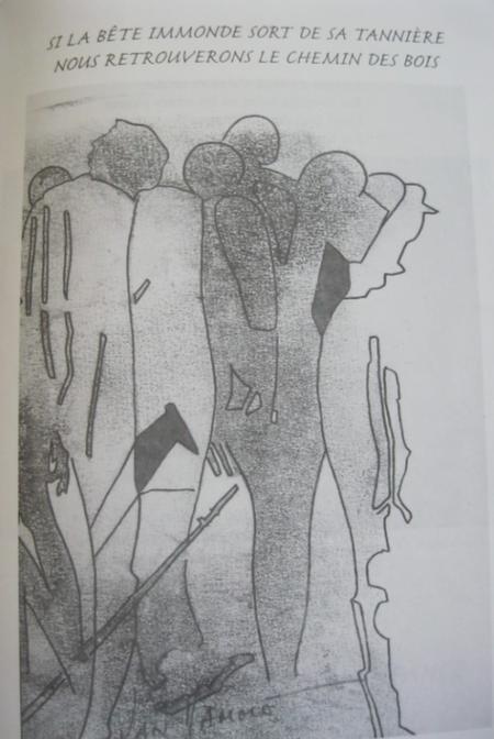 """2006) Extrait des paroles de  """" J'ai froid """" de Jean FERRAT dessins et  livre  de Michel VAN HAMME"""