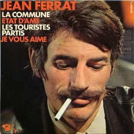 1970) Jean FERRAT - La commune 45T & 4 Titres (Chez BARCLAY)