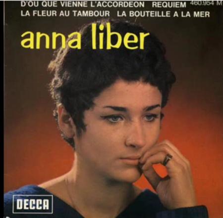 1966) Anna LIBER chante FERRAT - D'où que vienne l'accordéon