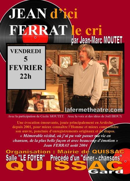 2016) Jean d'ici FERRAT le cri le 5 fèvrier 2016 à Quissac (30260)