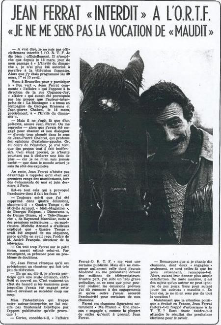 1968) Jean FERRAT interdit à L'O.R.T.F