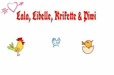 ♥ Krikette, Lala, Libelle & Piwi ♥
