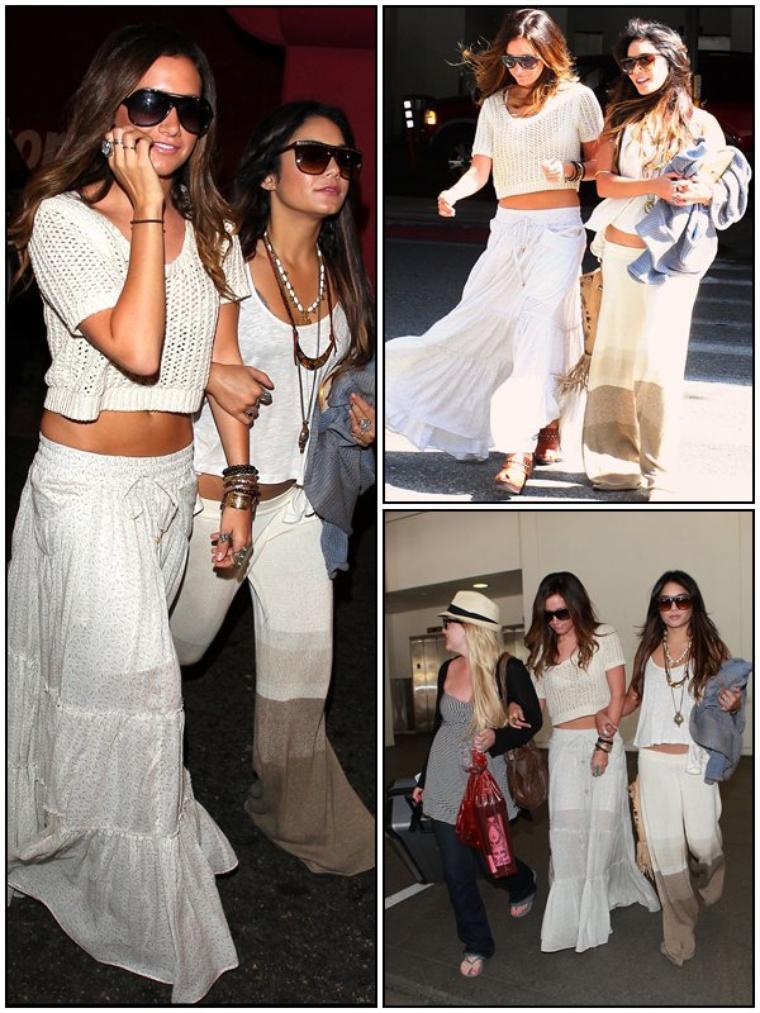 CANDID Ashley & ses deux meilleures amies arrivant à l'aéroport de LAX dans Los Angeles, le 03/05/2011