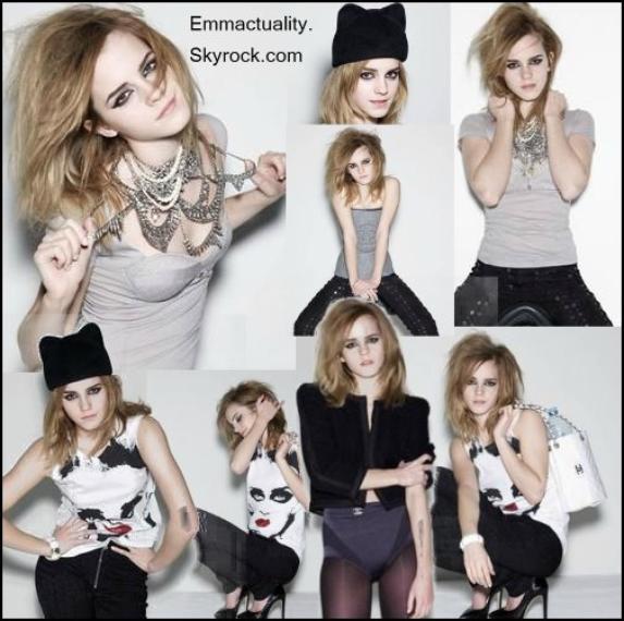 ● Outtakes : + de 700 photos d'Emma d'un ancien shoot datant de 2009 pour Elle UK sont apparues.