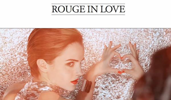 . ● Un tout nouveau site dédié à la marque Rouge in Love de Lancôme vient tout juste d'être créé!  .