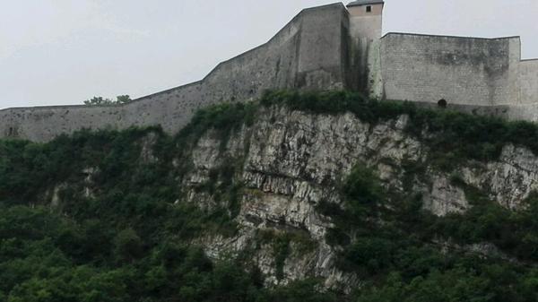 Citadelle de Besançon vu du parking rodia