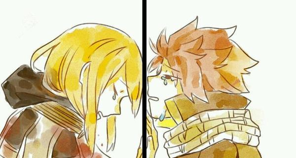 Les deux lucy et natsu.