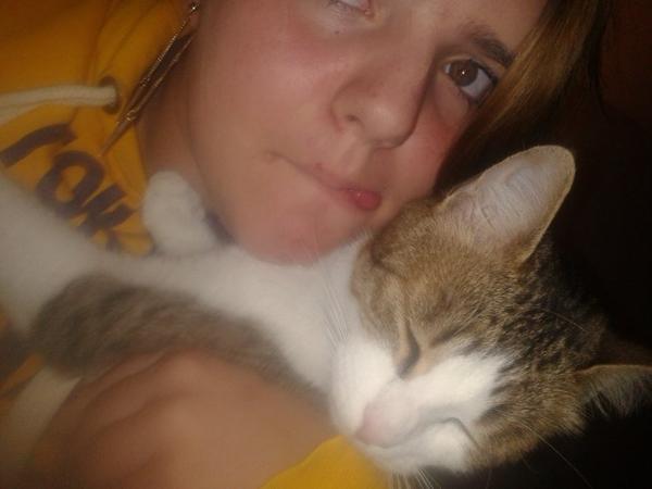 Moi et mon chat et des bébé a mon chat