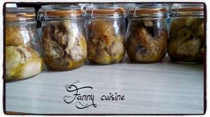 Cuisses de poulets rôties en bocaux