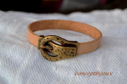 bracelet cuir 10 mm simple n*3,n*4 et n*5