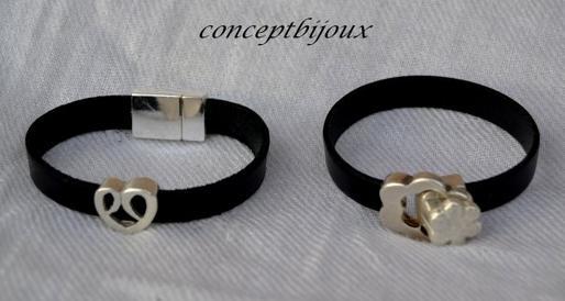 bracelet cuir 5 mm noir
