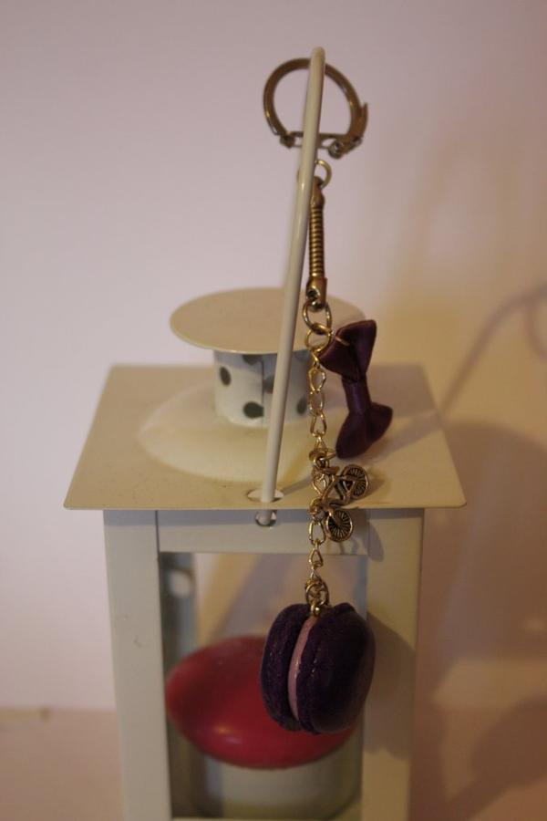 Macaron myrtille et violette
