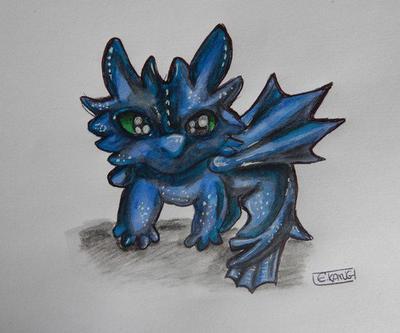 Le petit dragon bleu