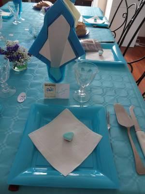 ma table d'anniversaire pour l'anniversaire de mon fils 34ans
