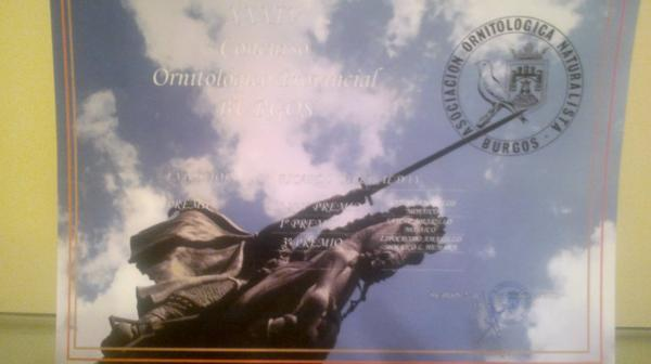 XXXIV CONCURSO ORNITOLÓGICO PROVINCIAL DE BURGOS