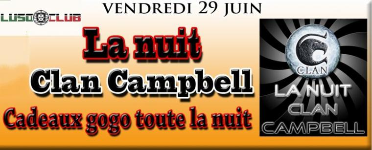 vendredi 29 juin ☆ ★ La nuit clan campbell ★ ☆