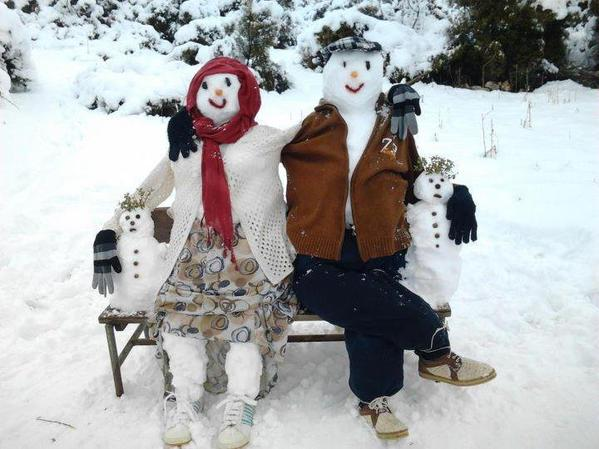 No Matter How Cold It Is, I Keep Myself Warm With My Family:) لا يهم كم الطقس بارد, أشعر بالدفئ مع عائلتي :)