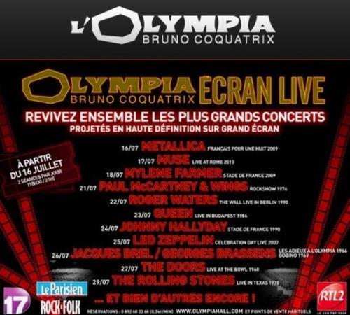 Olympia ecran live