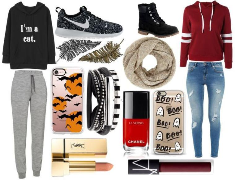 Look Cosy At home(GAUCHE) Look Pour sortir (DROITE)