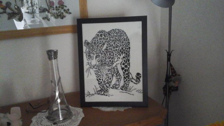 broderie léopard