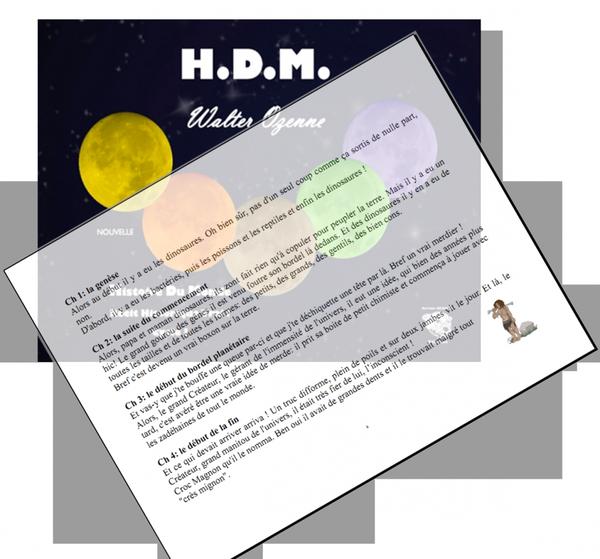 H.D.M. la première page !