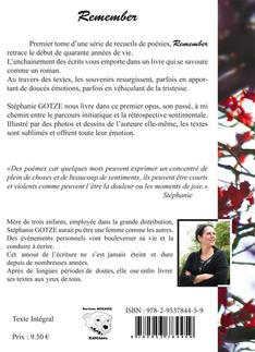 """Remember"" recueil de poésies"