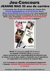 FEVRIER 1984 - FEVRIER 2014 :  JEANNE MAS  - 30 ans de carrière ! - LE JEU-CONCOURS