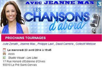 """Dans les coulisses de l'émission ... """"LES CHANSONS D'ABORD""""  (Diffusion en mai sur France 3) - Un fan a assisté à l'enregistrement le 23 avril,  Il raconte..."""