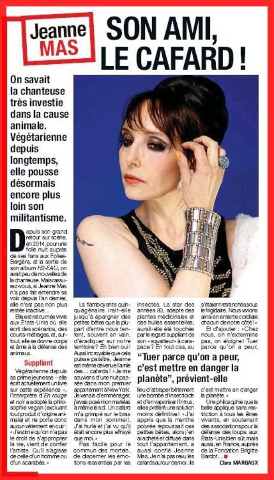 NEWS PRESSE : JEANNE dans le FRANCE DIMANCHE de cette semaine !