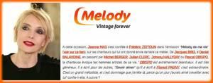"""News  JEANNE est l'invitée de Frédéric Zeitoun dans l'émission """"Mélody de ma vie"""" (MelodyTV) ce dimanche 17 septembre 2017 à 19h50"""