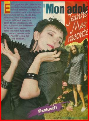 "Article de presse - [""OK magazine"" - Octobre 1989] - JEANNE raconte... son adolescence"