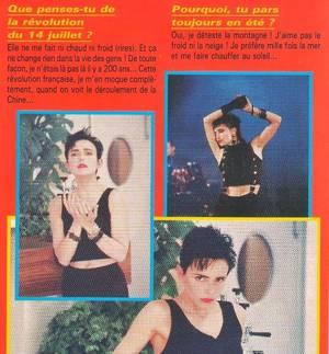 Le passage TV inédit de la semaine - JEANNE MAS - J'ACCUSE (1989) + Interview - article de presse (1989)