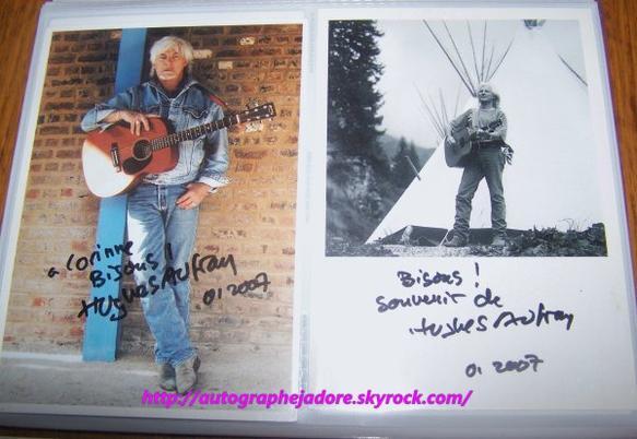 autographe  de Hugues Aufray