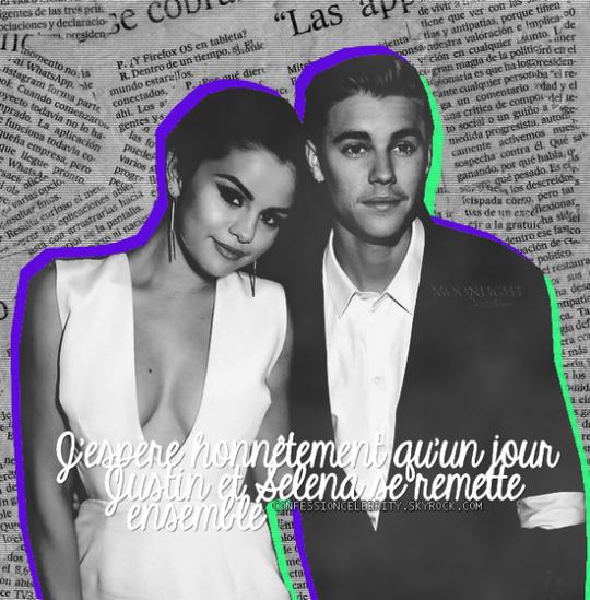 Cinquiète Confession : Justin Bieber & Selena Gomez