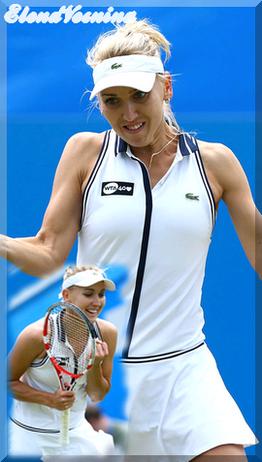 ... Elena Vesnina, le talent à l'état brute ...