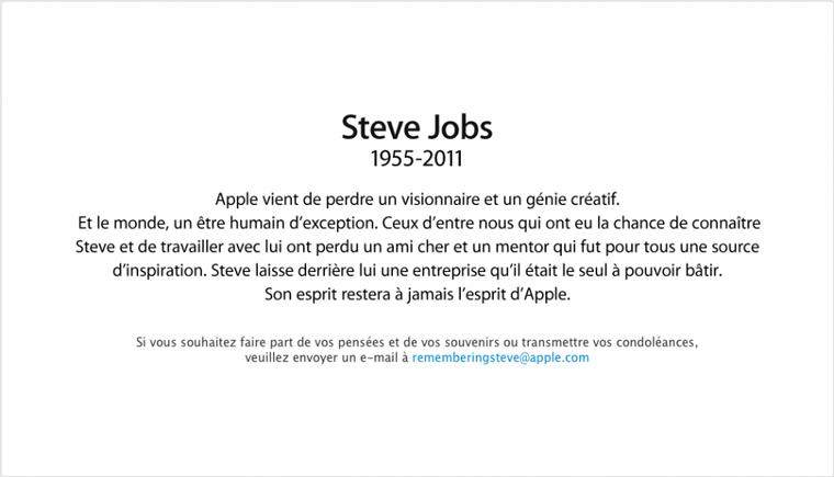 Steve Jobs est mort..