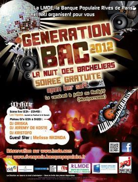"""Vendredi 6 juillet """"Génération Bac 2012"""""""