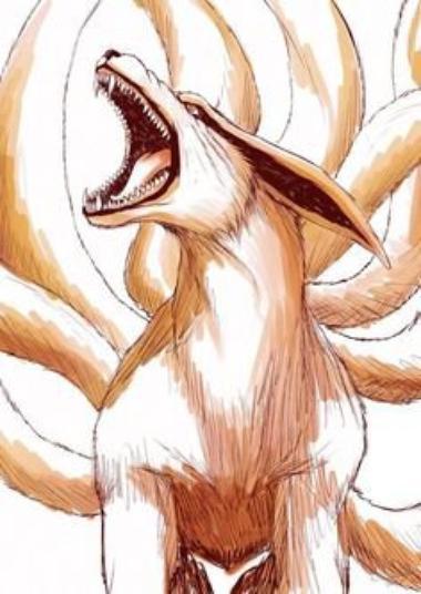 Histoire de Kyubi dans le mond de Naruto :   Nous en savons aujourd'hui assez sur ce terrifiant démon renard à neuf queues pour en faire uen biographie. Kyubi est le plus puissant des neuf démons existant dans ce monde. Il possède un chakra rouge inépuisable et son pire ennemis selon la légende japonaise serait Hachibi (le serpent à huit têtes mais ici, il ressemble à un taureau à huit queues de poulpe). D'une férocité extrême il représente la haine de chaque être sur cette Terre. Ainsi il fût un très bon bijûu pour son hôte. Il eût trois hôtes jusqu'à présent. Les deux premiers hôtes venaient du village du tourbillons qui fûrent deux femmes. La première fût devenue la femme du premier Hokage du village de Konoha. Le village des feuilles et des tourbillons ont toujours été des lointains cousins et possèdent une très bonne entente entre eux. Puis lorsque la première s'approchait de la mort, une nouvelle femme Kushina Uzumaki devena son second Jinchûuriki. Mais lorsqu'elle donna naissance, le sceau fût fragilisé et un Uchiwa du nom de Madara possédant les sharingans, réussissa à contrôler le terrible démon, et l'ordonna de détruire le village de Konoha . Mais le quatrième Hokage par une technique puissante l'emprisonna dans le corps de son fils en échange de sa vie. L'histoire de Naruto Uzumaki et de Sasuke Uchiwa commenca.
