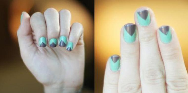 Nail Art : Faire des triangles sur vos ongles.