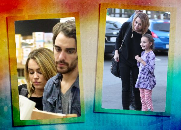 09/11/11>Miley est allée faire ses courses comme à son habitude chez Trader Joe's avec Cheyne Thomas, Pas de Liam a l'horizon, il est en plein tournage