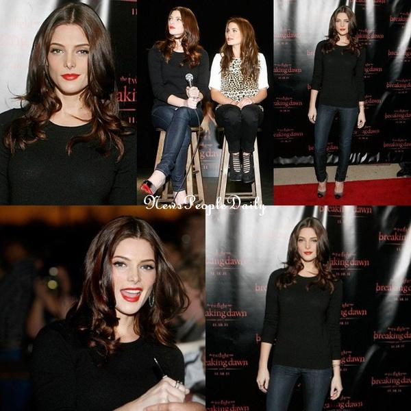 Special Breaking Dawn ,Ashley greene & Nikki Reed étè présente pour la promotion de Bd