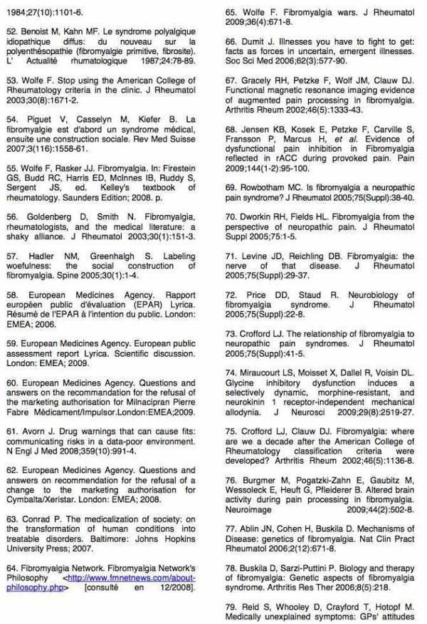La fibromyalgie - Haute Autorité de Santé : Rapport d'orientation – Syndrome fibromyalgique de l'adulte (63)