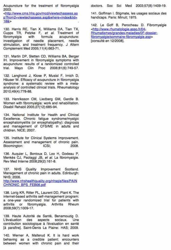 La fibromyalgie - Haute Autorité de Santé : Rapport d'orientation – Syndrome fibromyalgique de l'adulte (64)
