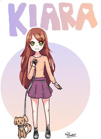 - Un dessin de Kiara sans lunette -